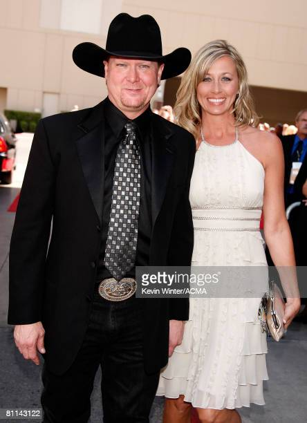 ACCESS*** Singer Tracy Lawrence and wife Becca Lawrence arrive at the 43rd annual Academy Of Country Music Awards held at the MGM Grand Garden Arena...