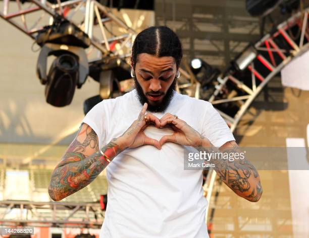 Singer Travie McCoy of Gym Class Heroes performs at 1027 KIIS FM's Wango Tango at The Home Depot Center on May 12 2012 in Carson California