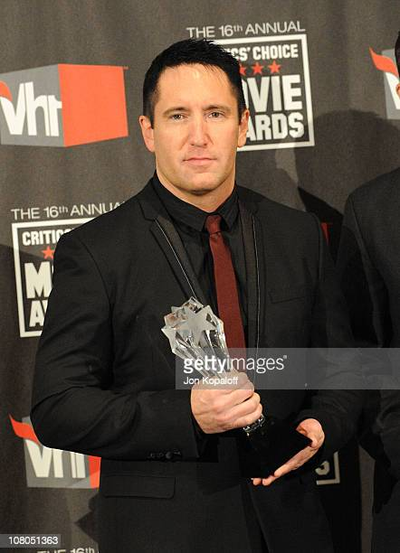 Singer Trent Reznor arrives at the 16th Annual Critics' Choice Awards at the Hollywood Palladium on January 14 2011 in Los Angeles California