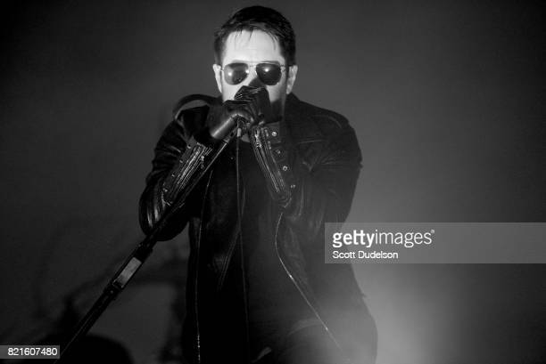 Singer Trent Reznor of Nine Inch Nails performs onstage during FYF Fest on July 23 2017 in Los Angeles California