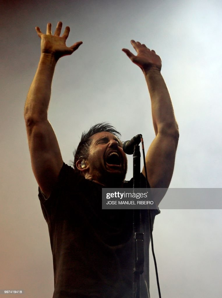 US singer Trent Reznor of the band Nine Inch Nails performs during ...