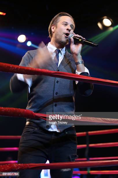 Singer Trevor Guthrie performs at the Victory Charity Ball at CBC Toronto on June 1 2017 in Toronto Canada