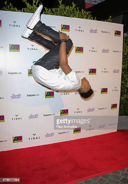 Singer Trevor Jackson attends the Atlantic Records 2015 BET Awards after party at HYDE Sunset Kitchen Cocktails on June 28 2015 in West Hollywood...
