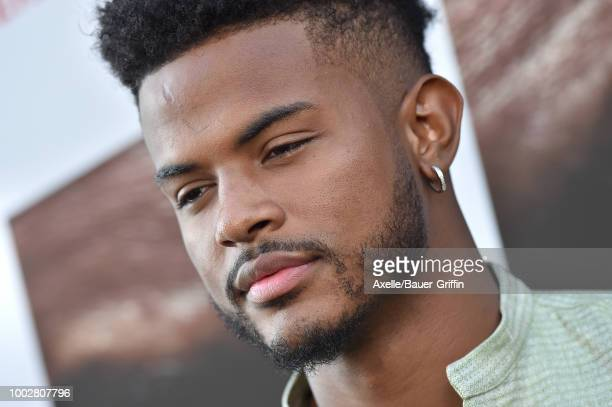 Singer Trevor Jackson attends the premiere of Columbia Picture's 'The Equalizer 2' at TCL Chinese Theatre on July 17 2018 in Hollywood California