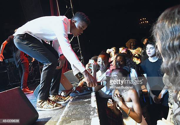 Singer Trevor Jackson attends Trevor Jackson's Monster 18th Birthday Party Presented by Monster at El Rey Theatre on August 28 2014 in Los Angeles...
