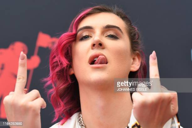 US singer Trevor Moran arrives for the 2019 MTV Video Music Awards at the Prudential Center in Newark New Jersey on August 26 2019