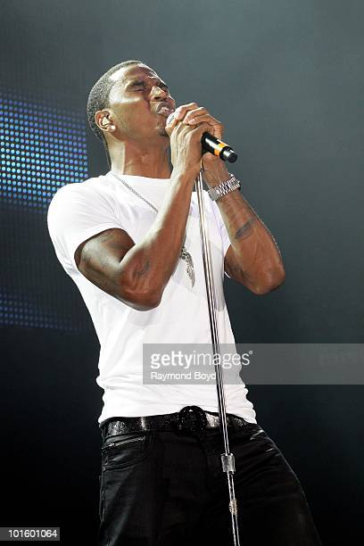 Singer Trey Songz performs at the Allstate Arena in Rosemont Illinois on MAY 21 2010