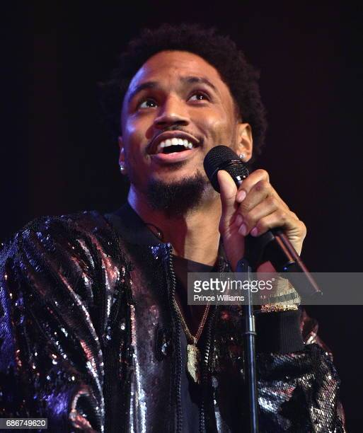 Singer Trey Songz performs during Trey Songz in Concert Atlanta GA at The Tabernacle on May 21 2017 in Atlanta Georgia