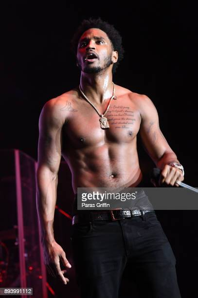 Singer Trey Songz performs onstage at 3rd Annual V103 Winterfest Concert at Philips Arena on December 16 2017 in Atlanta Georgia