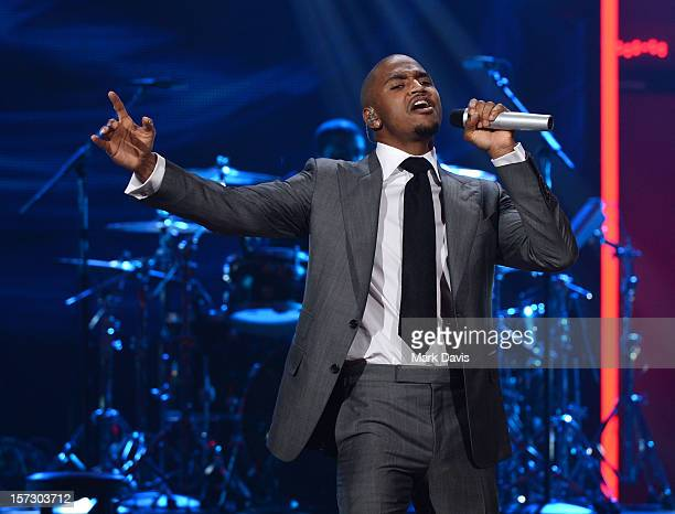 Singer Trey Songz performs onstage during UNCF's 33rd Annual An Evening Of Stars held at Pasadena Civic Auditorium on December 1 2012 in Pasadena...