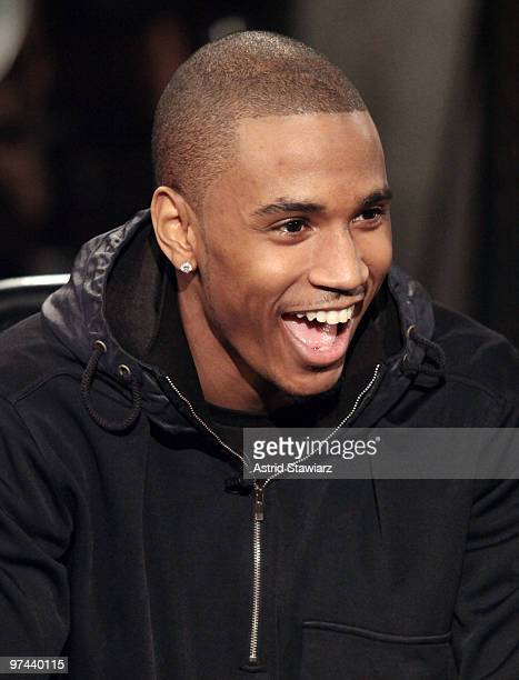 Singer Trey Songz stops by Fuse to chat with Toure on Hip Hop Shop airing Wednesday 3/10 at 7pm ET fuse Studios on March 4 2010 in New York City
