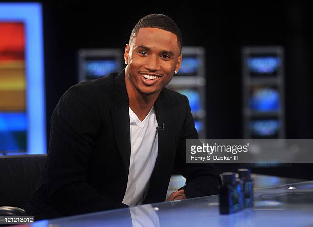 Singer Trey Songz visits America's Nightly Scoreboard on FOX Business Network at FOX Studios on August 15 2011 in New York City