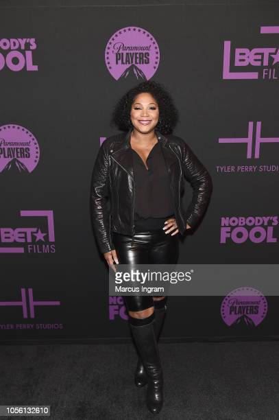 Singer Trina Braxton attends a special screening of 'Nobody's Fool' at Regal Atlantic Station on November 1, 2018 in Atlanta, Georgia.