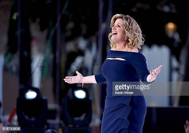 Singer Trisha Yearwood appears in The Passion an epic musical event airing LIVE from New Orleans on FOX at Woldenberg Park on March 20 2016 in New...