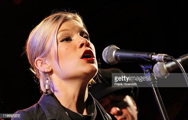Singer Trixie Whitley of the band Daniel Lanois Black Dub performs live during a concert at the Passionskirche on July 28 2011 in Berlin Germany