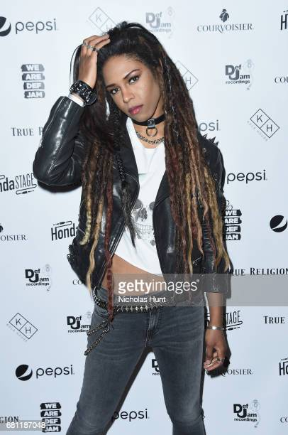 Singer Troi Irons attends the 2017 Def Jam Upfronts presented by Honda Stage Pepsi Courvoisier and True Religion at Kola House NYC on May 9 2017 in...