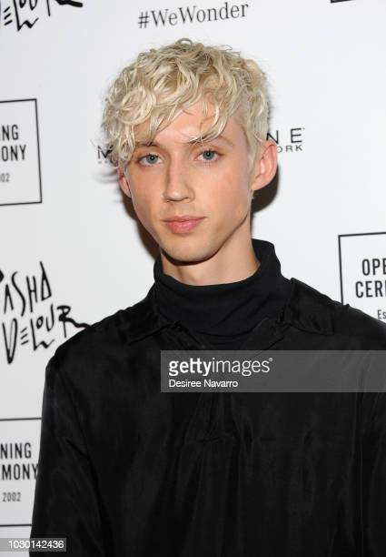 Singer Troye Sivan attends Opening Ceremony September 2018 during New York Fashion Week at Le Poisson Rouge on September 9 2018 in New York City