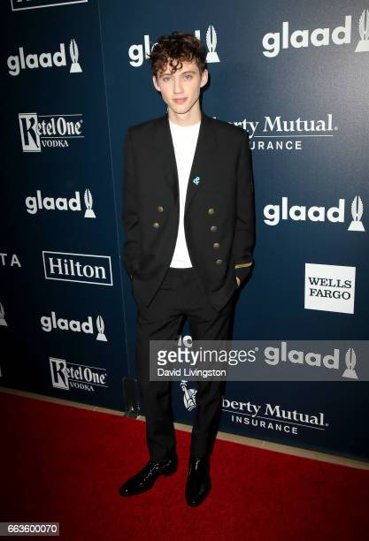Singer Troye Sivan attends the 28th Annual GLAAD Media Awards at The Beverly Hilton Hotel on April 1 2017 in Beverly Hills California