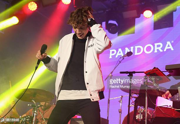 Singer Troye Sivan performs onstage during the PANDORA Discovery Den SXSW on March 19 2016 in Austin Texas