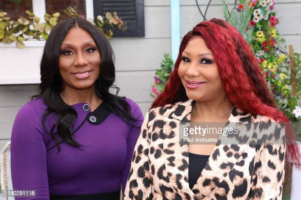 "Singer / TV Personalities Towanda Braxton and Traci Braxton visit Hallmark's ""Home & Family"" at Universal Studios Hollywood on April 03, 2019 in..."