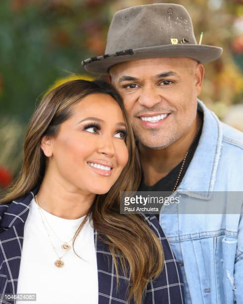 Singer / TV Personality Adrienne Houghton and Musician Israel Houghton visit Hallmark's 'Home Family' at Universal Studios Hollywood on October 5...