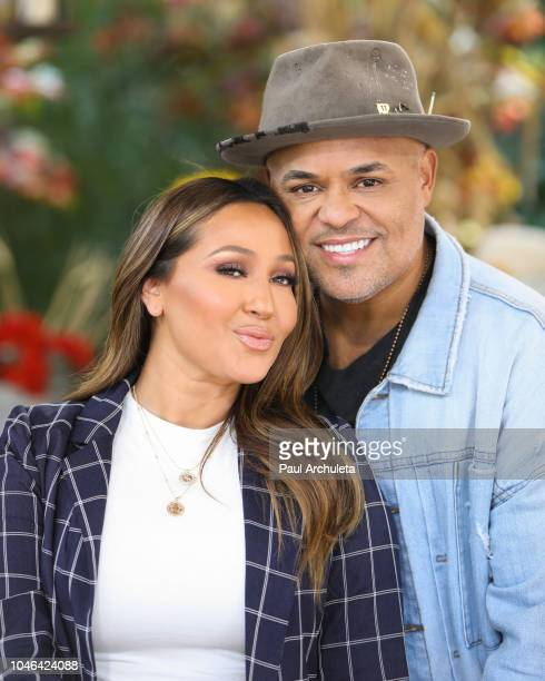Singer / TV Personality Adrienne Houghton and Musician Israel Houghton visit Hallmark's Home Family at Universal Studios Hollywood on October 5 2018...