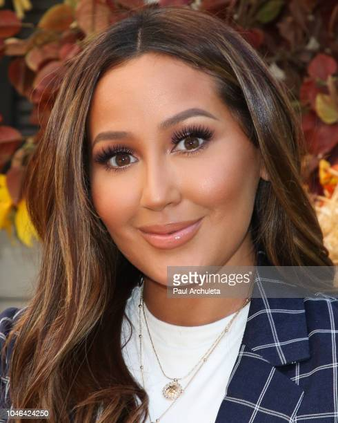 Singer / TV Personality Adrienne Houghton visits Hallmark's 'Home Family' at Universal Studios Hollywood on October 5 2018 in Universal City...