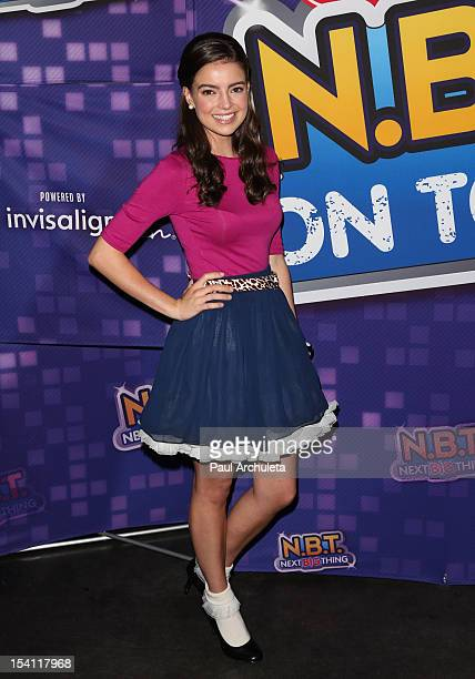 Singer / TV Personality Katherine Hughes attends the 'NBT' KickOff Concert at Hollywood And Highland Center on October 13 2012 in Los Angeles...