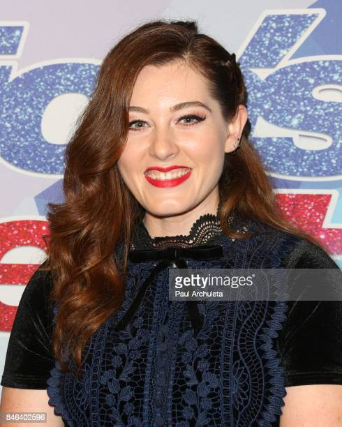 Singer / TV Personality Mandy Harvey attends NBC's 'America's Got Talent' season 12 live show at Dolby Theatre on September 12 2017 in Hollywood...