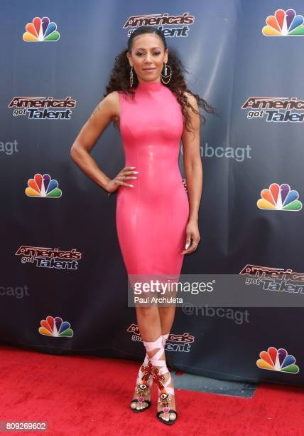 Singer / TV Personality Mel B attends the NBC's 'America's Got Talent' Judge Cut Rounds at NBC Universal Lot on April 27 2017 in Universal City...