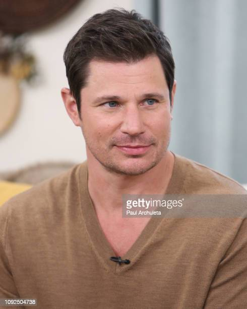 Singer / TV Personality Nick Lachey visits Hallmark's 'Home Family' at Universal Studios Hollywood on January 10 2019 in Universal City California