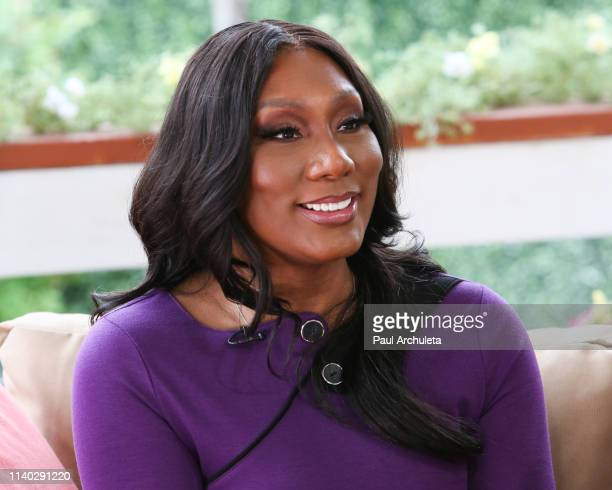 "Singer / TV Personality Towanda Braxton visits Hallmark's ""Home & Family"" at Universal Studios Hollywood on April 03, 2019 in Universal City,..."