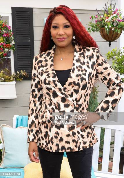 "Singer / TV Personality Traci Braxton visits Hallmark's ""Home & Family"" at Universal Studios Hollywood on April 03, 2019 in Universal City,..."
