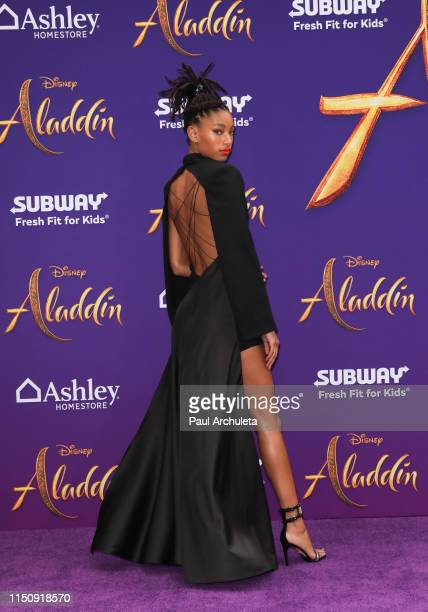 Singer / TV Personality Willow Smith attends the premiere of Disney's Aladdin on May 21 2019 in Los Angeles California