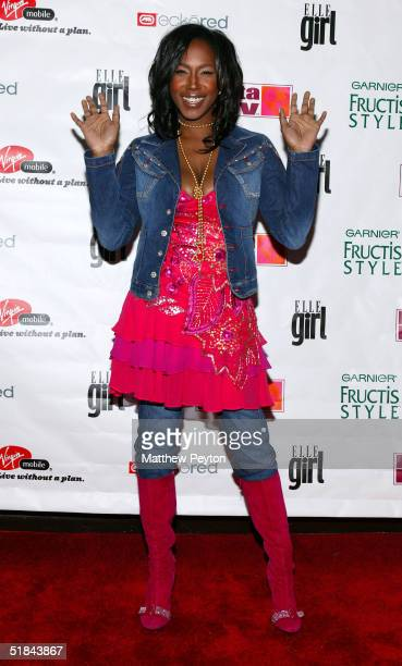 Singer Tweet arrives at ELLEgirl's 2nd annual Music And Fashion Party at the Angel Orensanz Foundation December 9 2004 in New York City