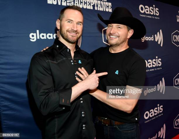 Singer Ty Herndon and Matt Collum attend the 2017 Concert for Love Acceptance on June 8 2017 in Nashville Tennessee