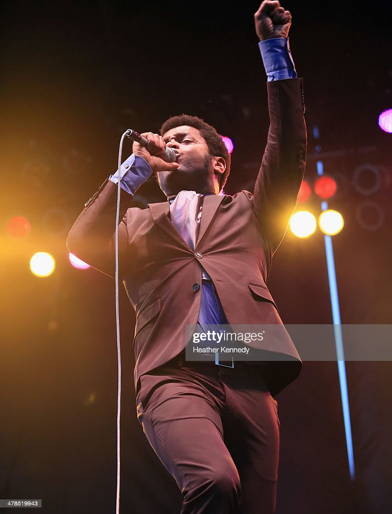 Singer Ty Taylor of Vintage Trouble performs onstage at the USPS Hendrix Stamp Event + Los Lonely Boys during the 2014 SXSW Music, Film + Interactive at Butler Park on March 13, 2014 in Austin, Texas.