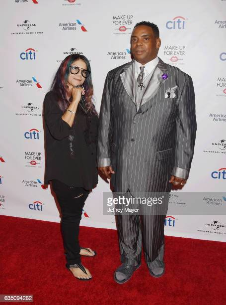 Singer Tyka Nelson and Maurice Phillips arrive at the Universal Music Group's 2017 GRAMMY After Party at The Theatre at Ace Hotel on February 12,...