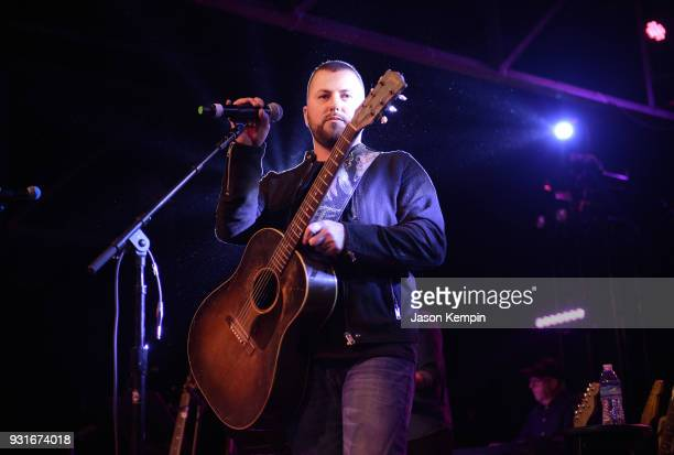 Singer Tyler Farr performs at Marathon Music Works on March 13 2018 in Nashville Tennessee