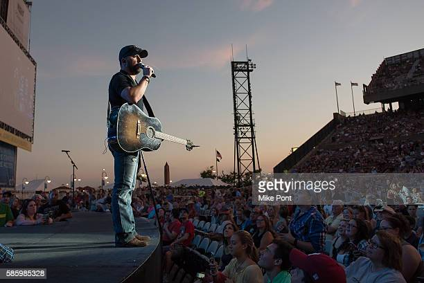 Singer Tyler Farr performs in concert at Nikon at Jones Beach Theater on August 4 2016 in Wantagh New York