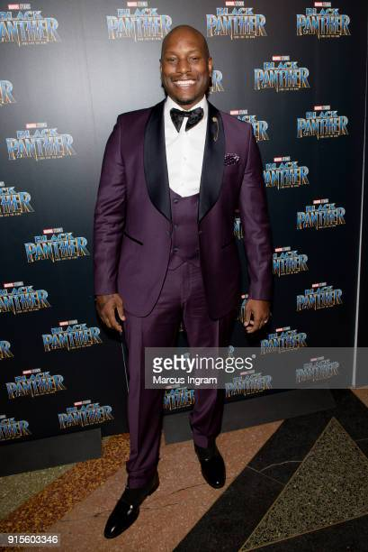 Singer Tyrese Gibson attends the Marvel Studios 'Black Panther' Atlanta movie screening at The Fox Theatre on February 7 2018 in Atlanta Georgia