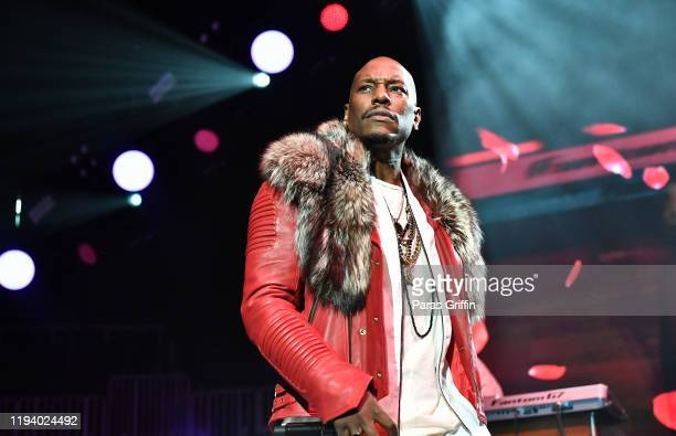 Singer Tyrese Gibson performs in concert during 2019 V103 Winterfest at State Farm Arena on December 14 2019 in Atlanta Georgia