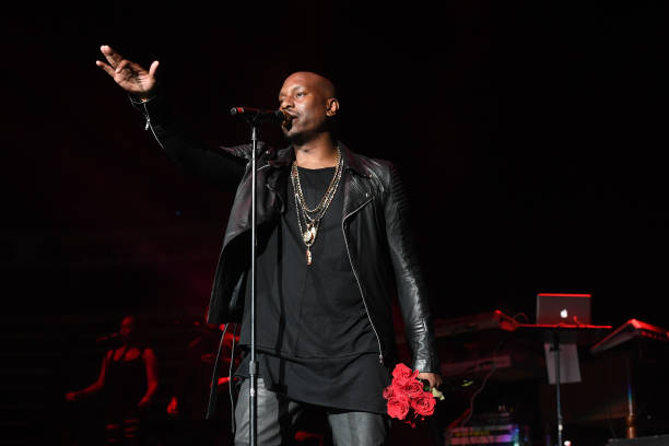 Singer Tyrese Gibson performs onstage in concert during the RB Super Jam at Philips Arena on October 28 2017 in Atlanta Georgia