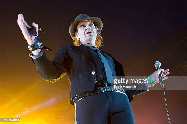 Singer Udo Lindenberg performs live during a concert at the Olympiastadion on July 14 2015 in Berlin Germany