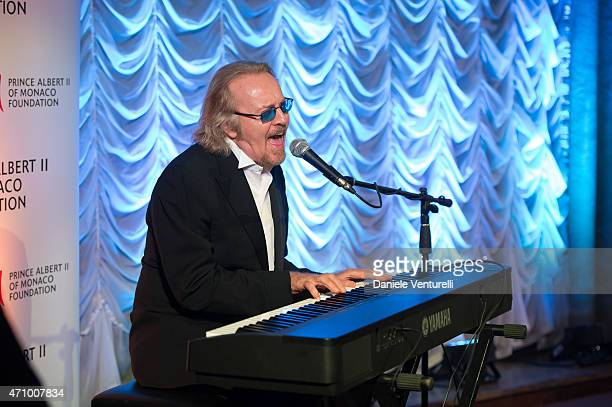 Singer Umberto Tozzi performs on stage during the Prince Albert II Of Monaco Foundation Gala Dinner on April 24, 2015 in Venice, Italy.