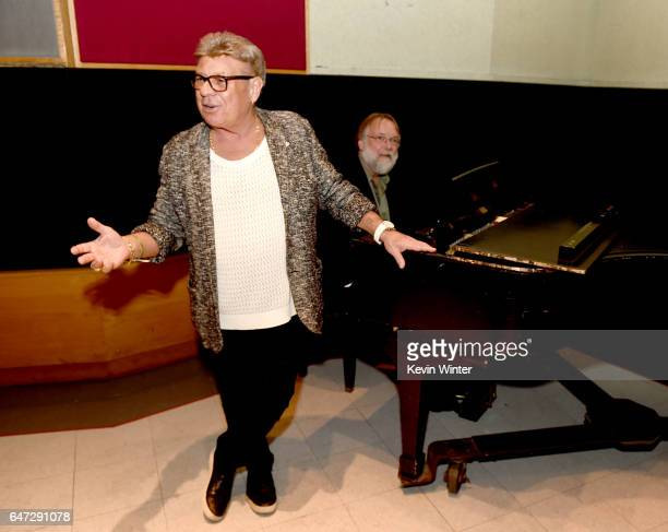 Singer Uncle Johnny performs at a reception celebrating radio personality Elvis Duran's star on the Hollywood Walk of Fame at Capitol Records on...
