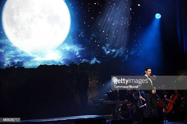 Singer Urs Buhler of Il Divo performs at the Dolby Theatre on April 5, 2014 in Hollywood, California.