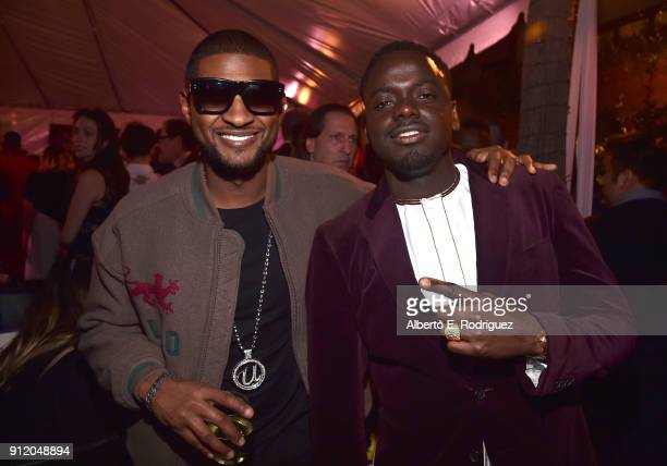 Singer Usher and actor Daniel Kaluuya at the Los Angeles World Premiere of Marvel Studios' BLACK PANTHER at Dolby Theatre on January 29 2018 in...