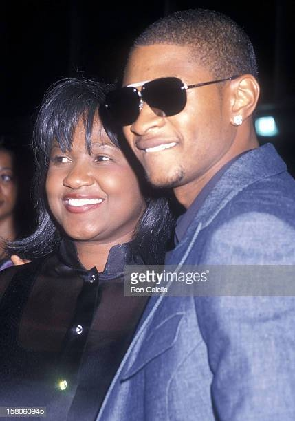 Singer Usher and mother Jonetta Patton attend the 'Michael Jackson 30th Anniversary Celebration' Concert Special on September 7 2001 at Madison...