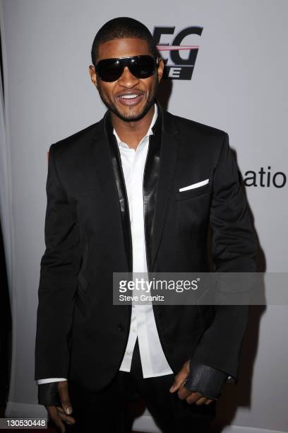 Singer Usher arrives at the 52nd Annual GRAMMY Awards Salute To Icons Honoring Doug Morris held at The Beverly Hilton Hotel on January 30 2010 in...